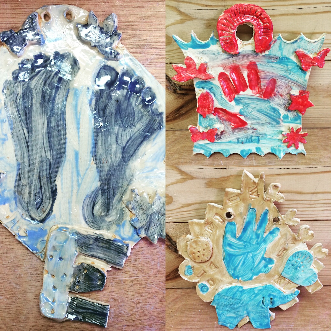 Pottery classes wheel throwing handbuilding ceramics children change and grow quickly capture their footprints and handprints on ceramic tiles that you make yourself from scratch during a private pottery negle Images