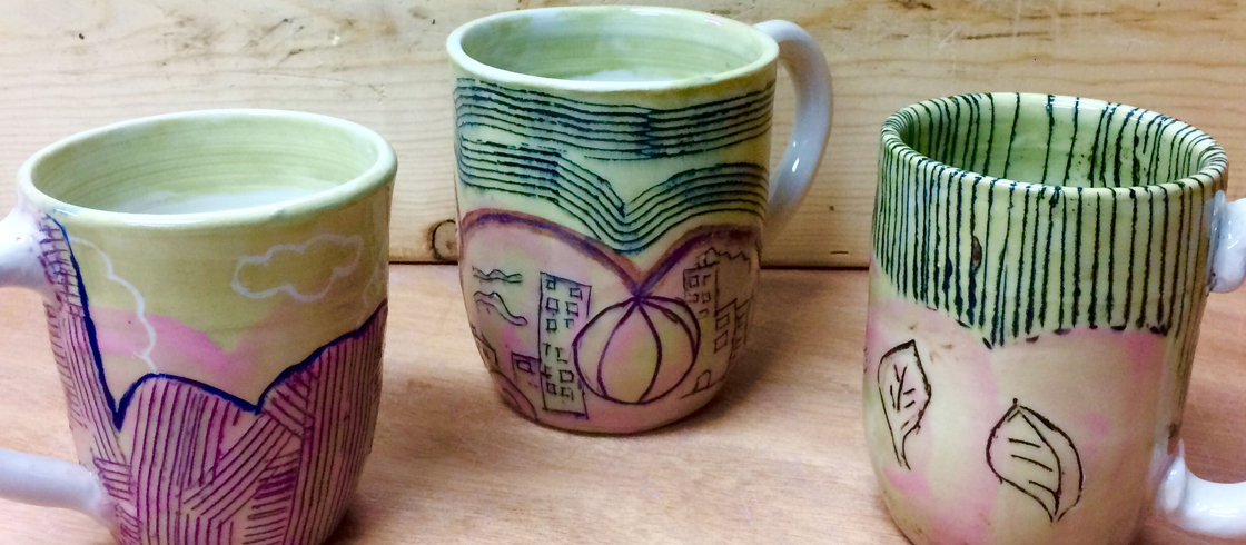 LATE WINTER CLASS TERM BEGINS March 3rd - NOW REGISTERING! - - / - - Stop in to shop out cozy gallery for unique handmade pottery gifts!